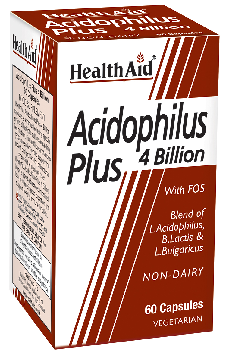 Acidophilus Plus 4 billion with FOS  60's