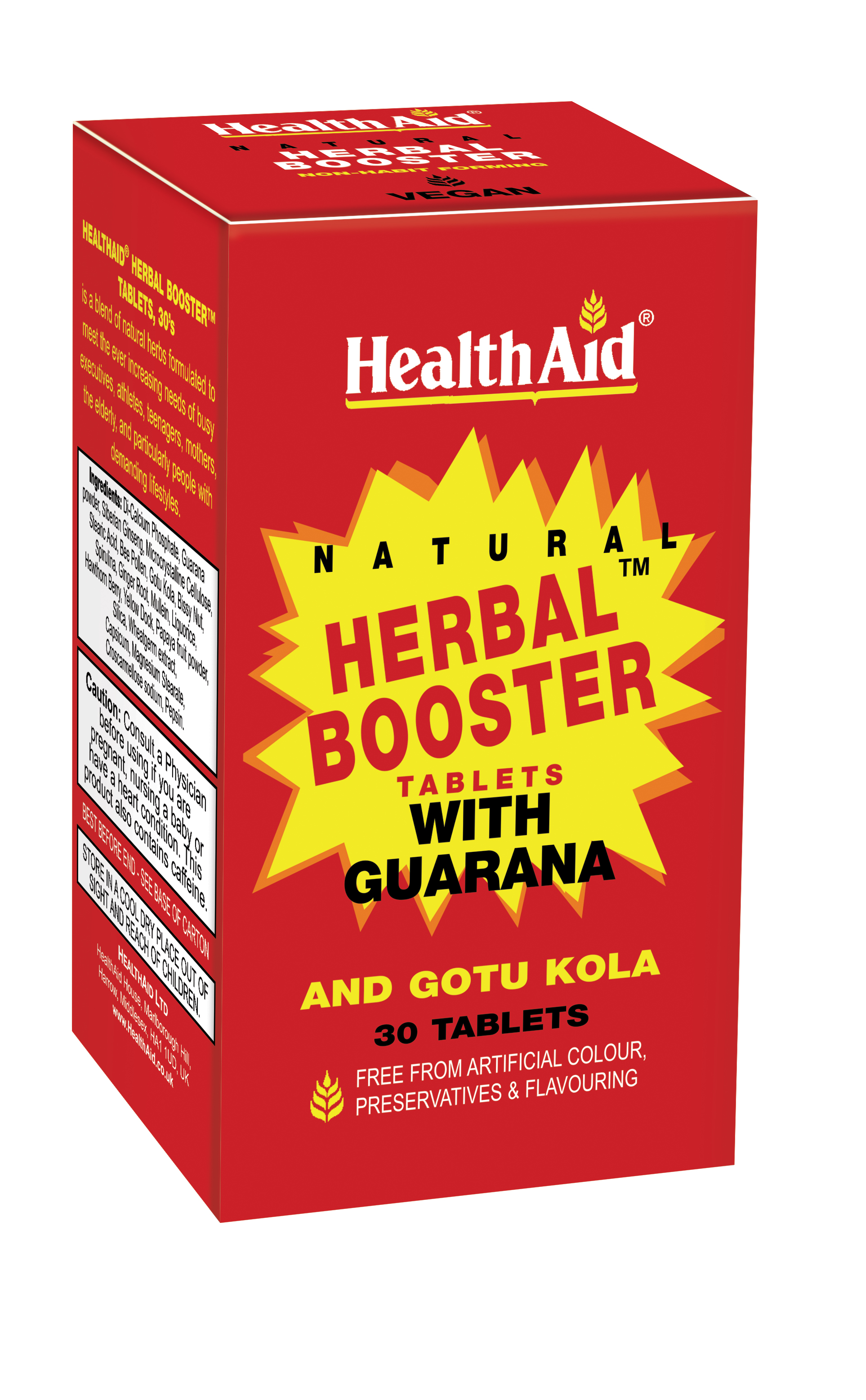 Herbal Booster with Guarana 30's