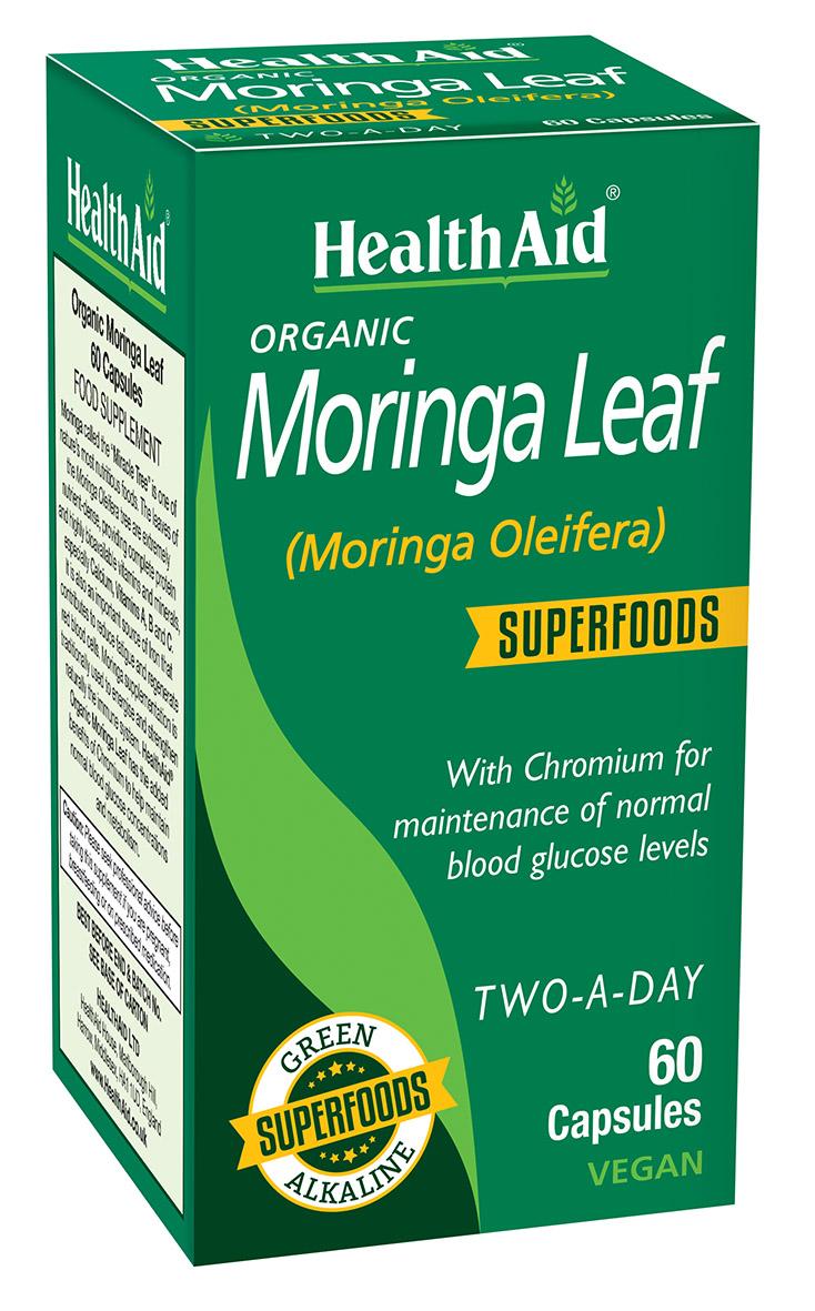 Organic Moringa Leaf Superfoods  60's