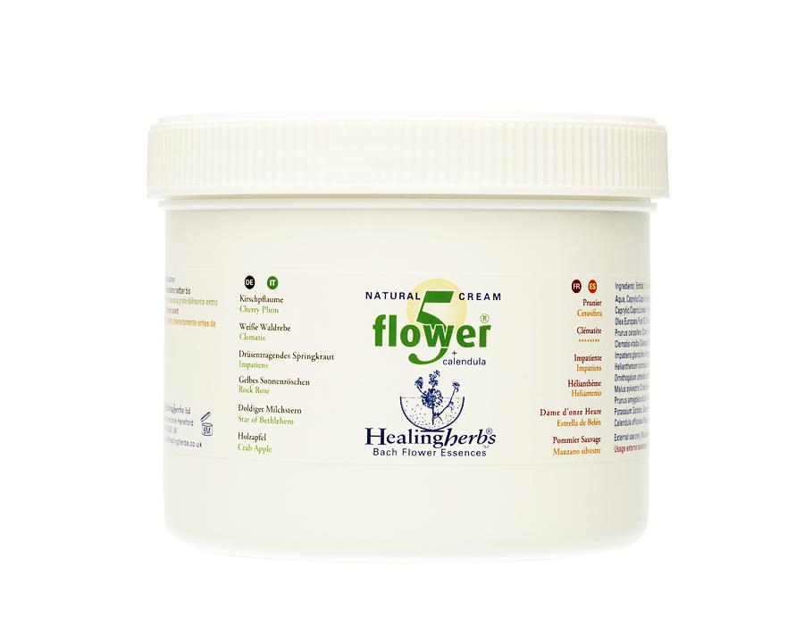 5 Flower Natural CREAM 450g (with calendula)