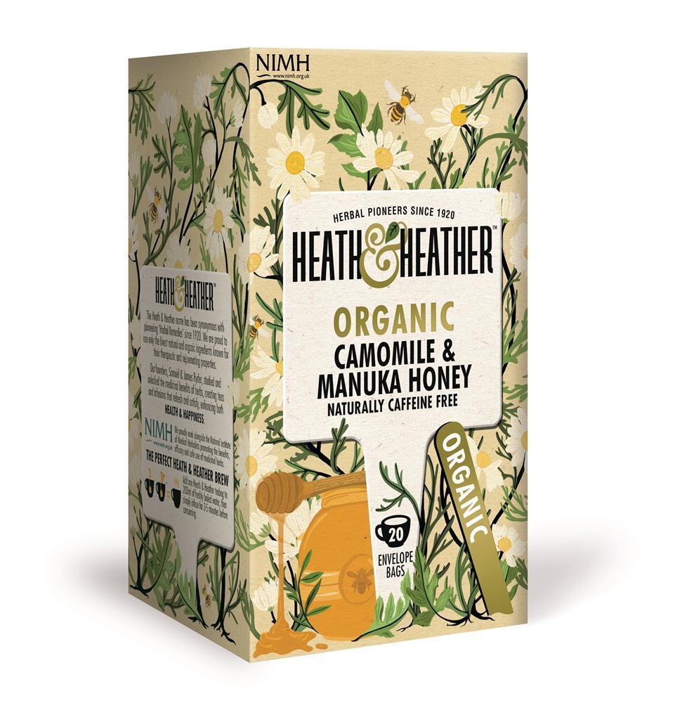 Organic Camomile with Manuka Honey Tea 20's