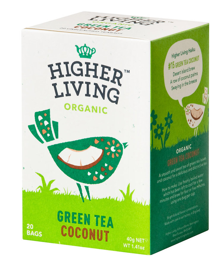 Green Tea & Coconut 20 Teabags