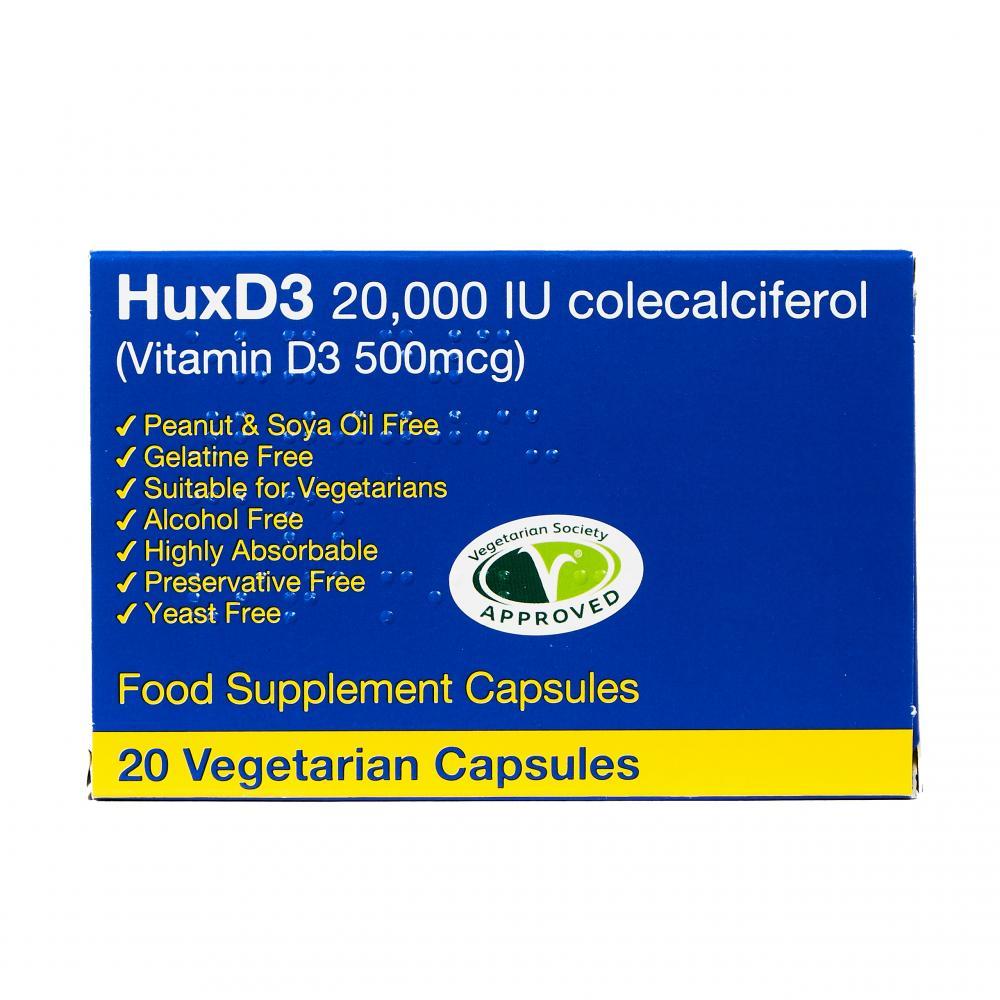 HuxD3 20,000 IU 20's