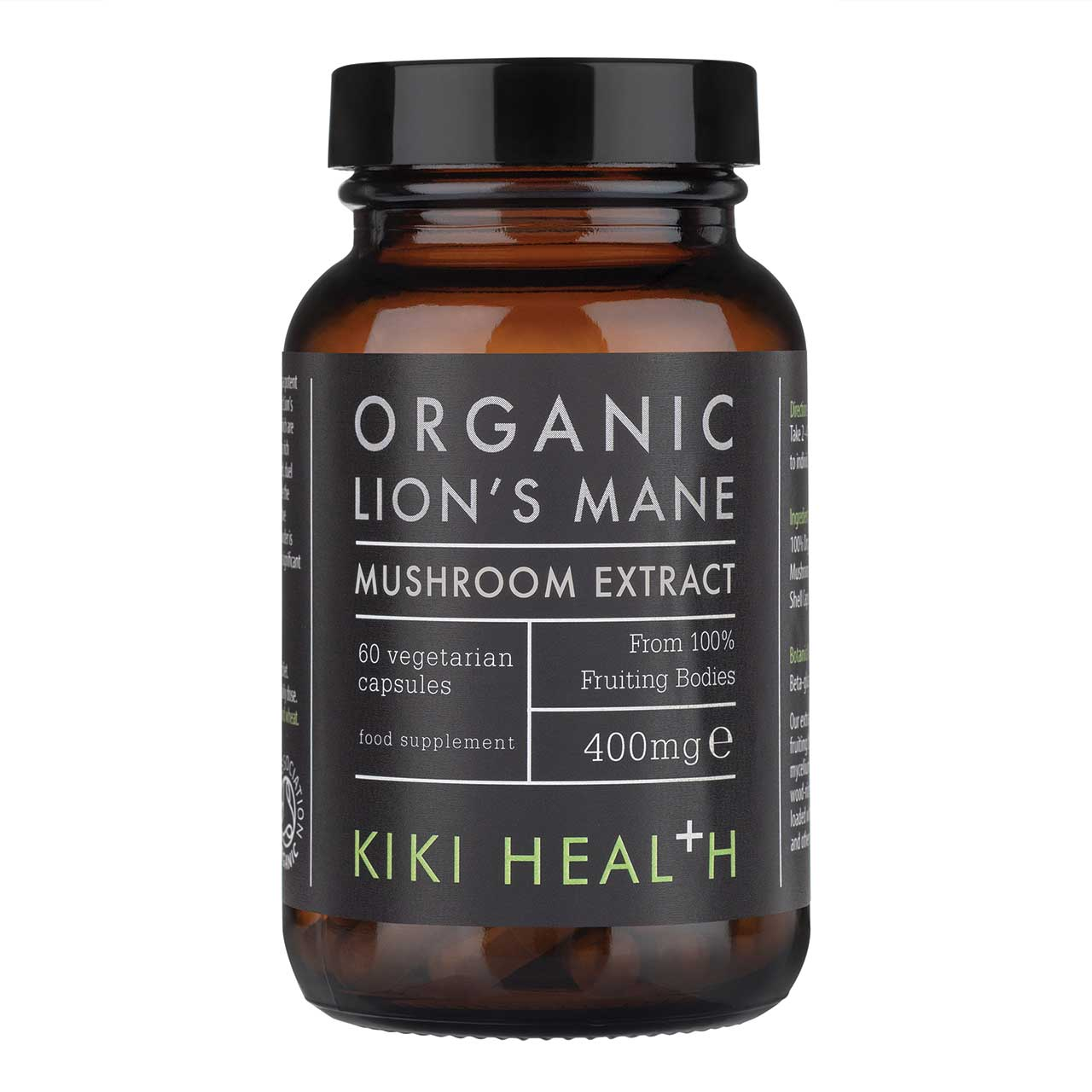 Organic Lion's Mane Mushroom Extract 60's