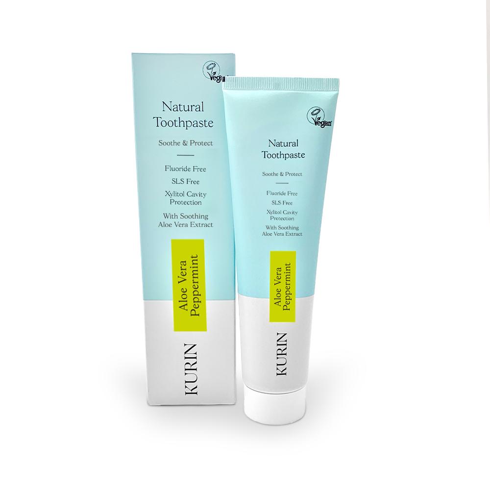Natural Toothpaste Fluoride Free Aloe Vera Peppermint 100ml
