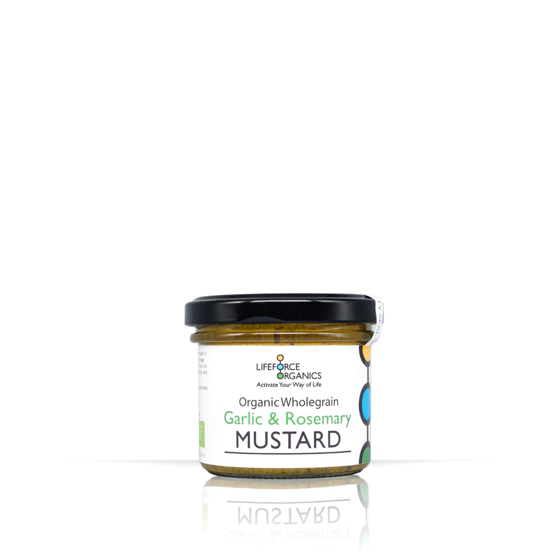 Organic Wholegrain Garlic & Rosemary Mustard 125g