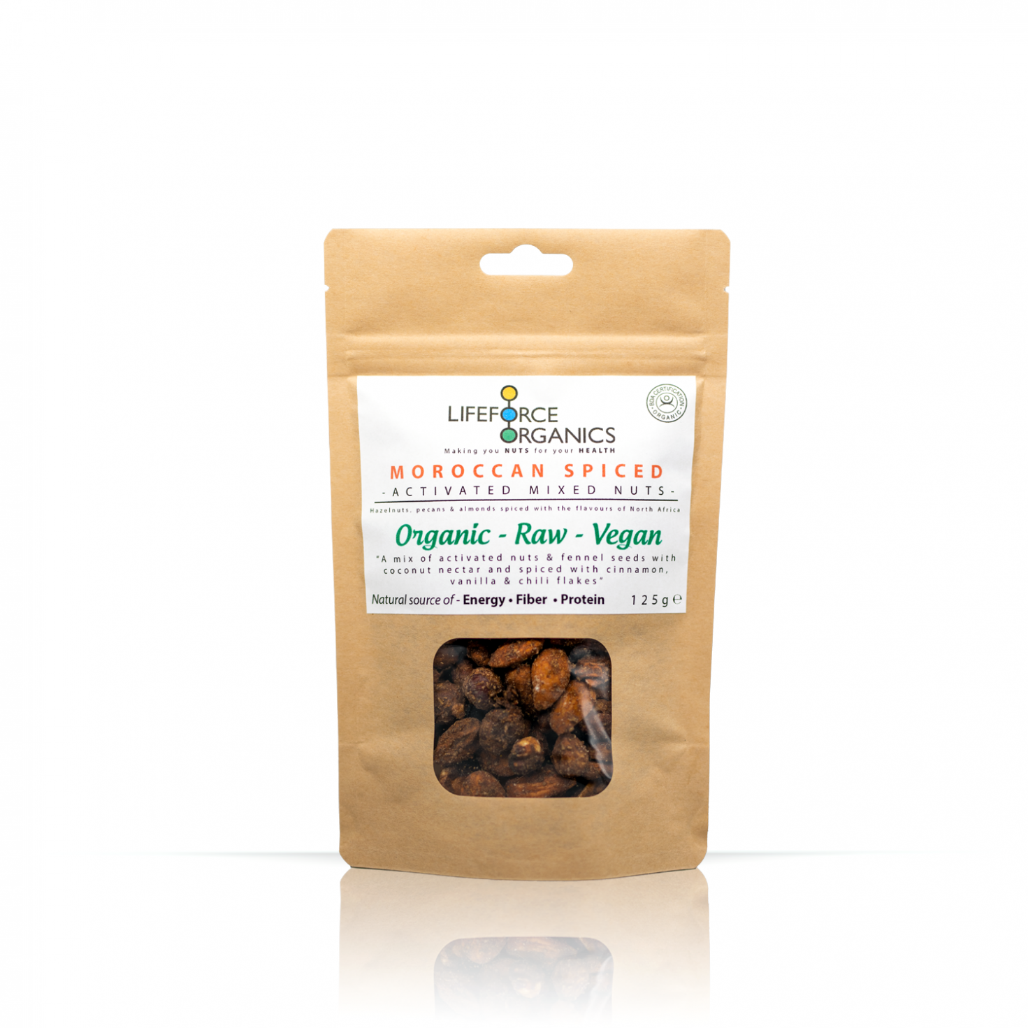 Moroccan Spiced Activated Mixed Nuts (Organic) 125g