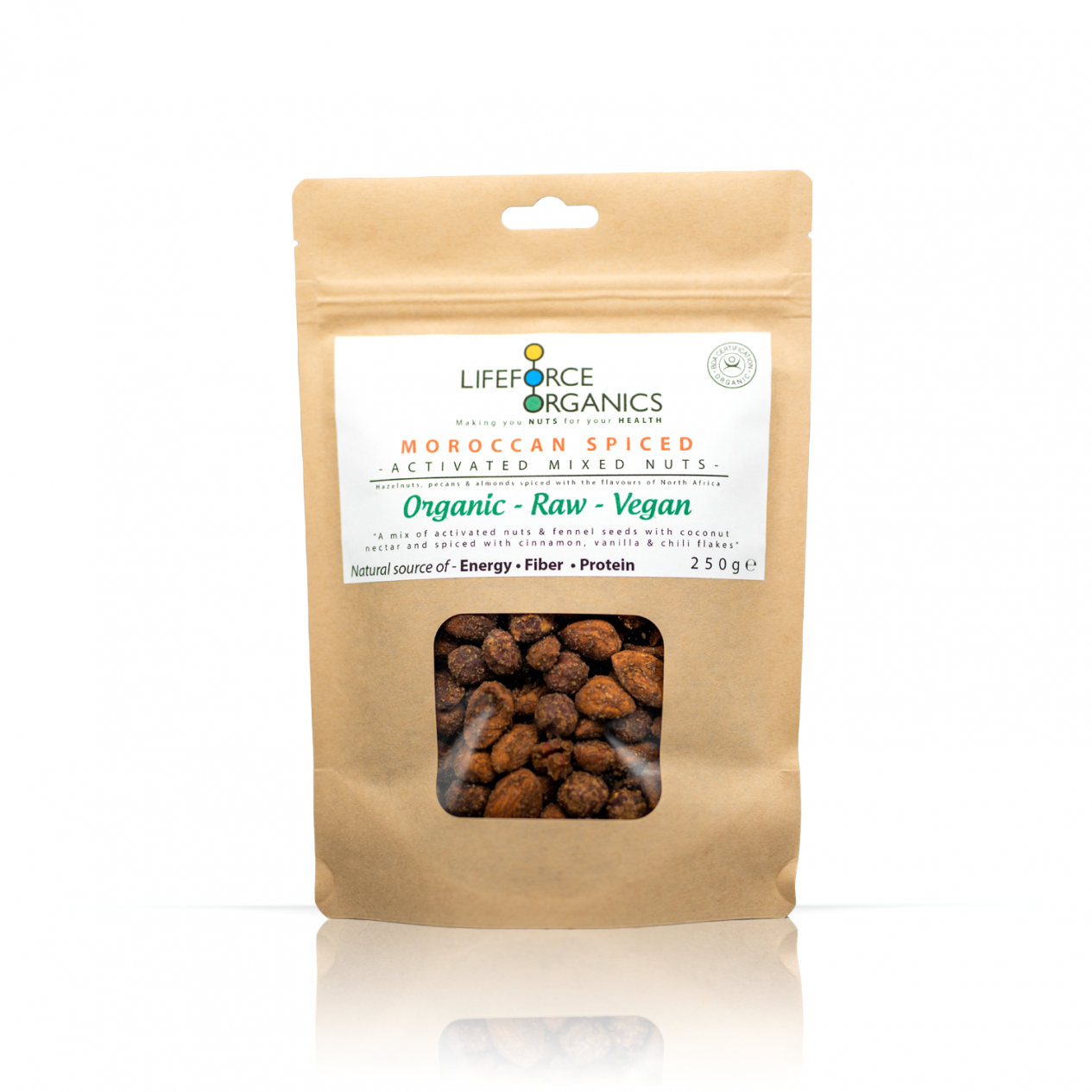 Moroccan Spiced Activated Mixed Nuts (Organic) 250g