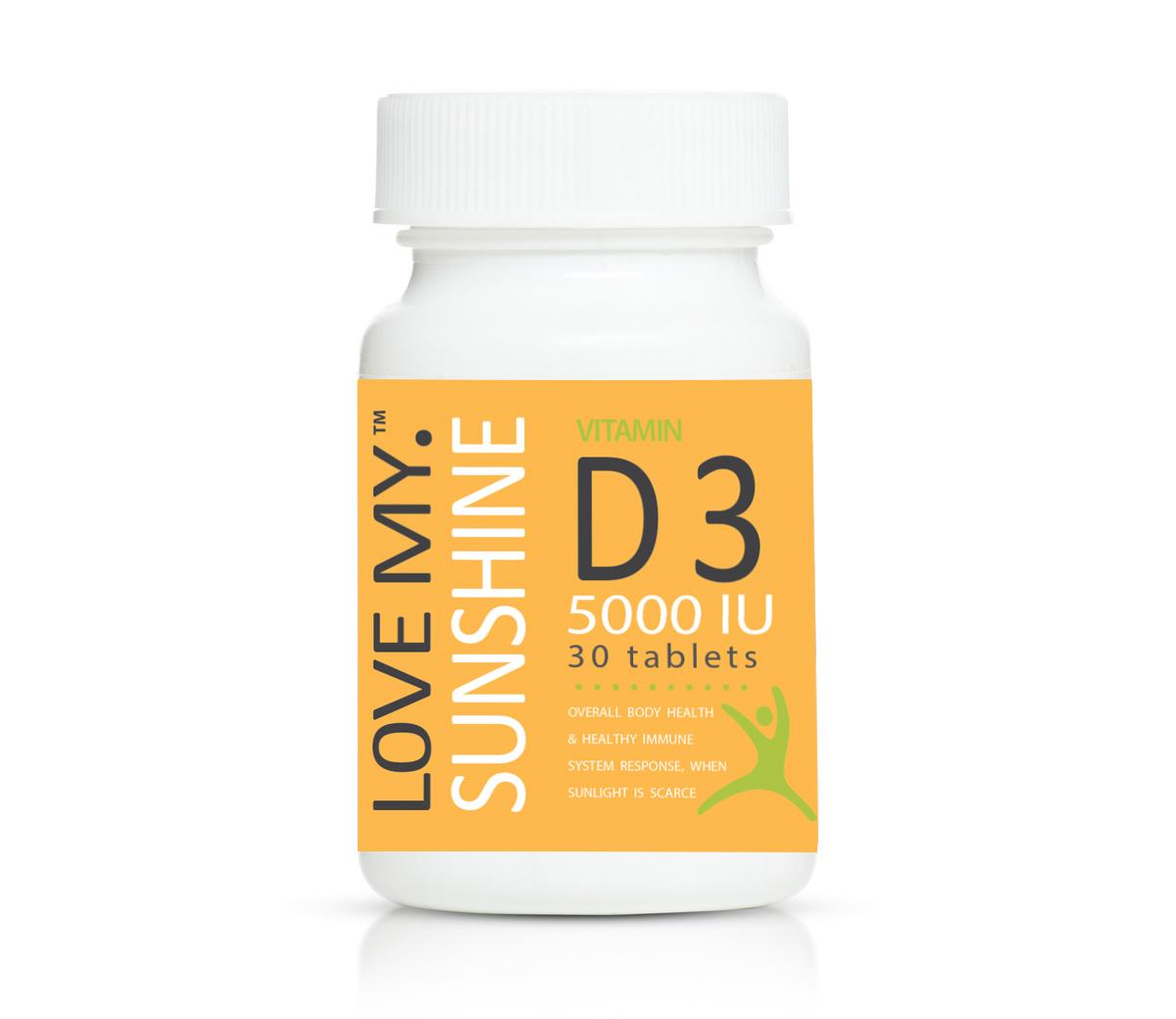 Love My Sunshine Vitamin D3 5000iu 30's