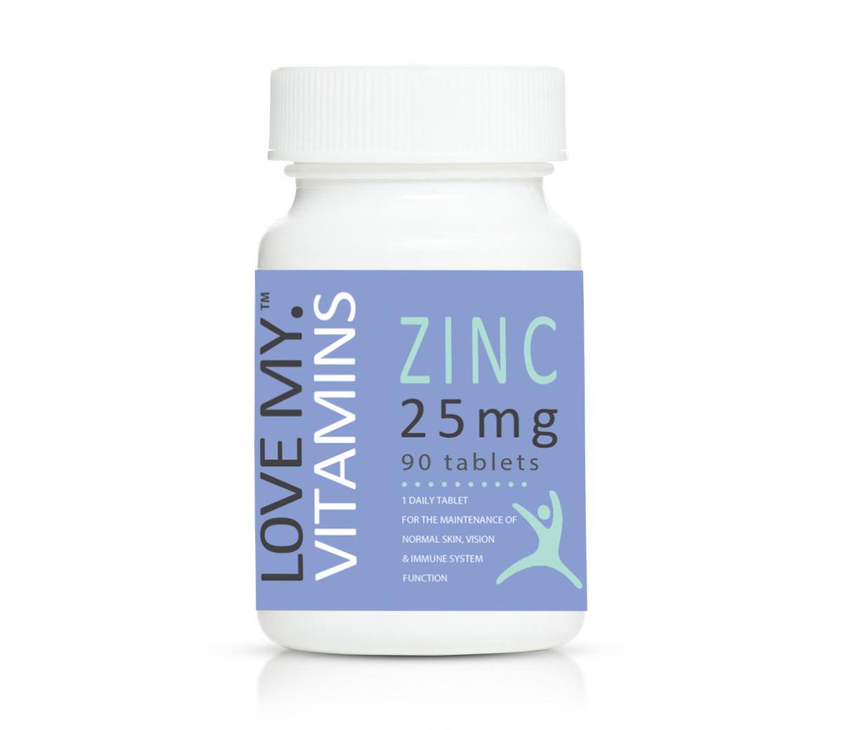 Love My Vitamins Zinc 25mg 90's