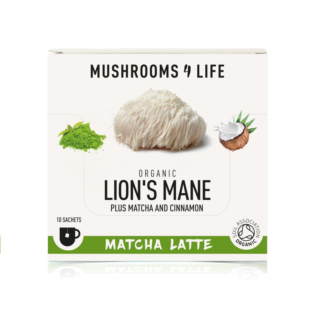 Organic Lion's Mane Matcha Latte 10's