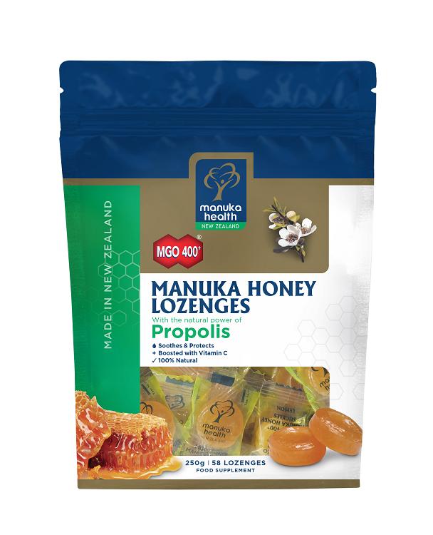 MGO 400+ Manuka Honey Lozenges with Propolis 250g 58's