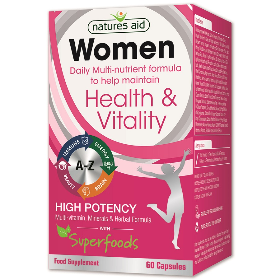 Women Multi-Vitamin, Minerals & Herbal Formula with Superfoods 60's