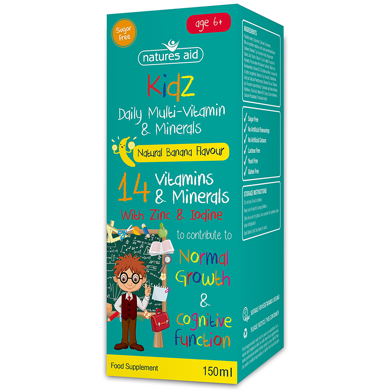 Kidz Daily Multi-Vitamin & Minerals Natural Banana Flavour 150ml