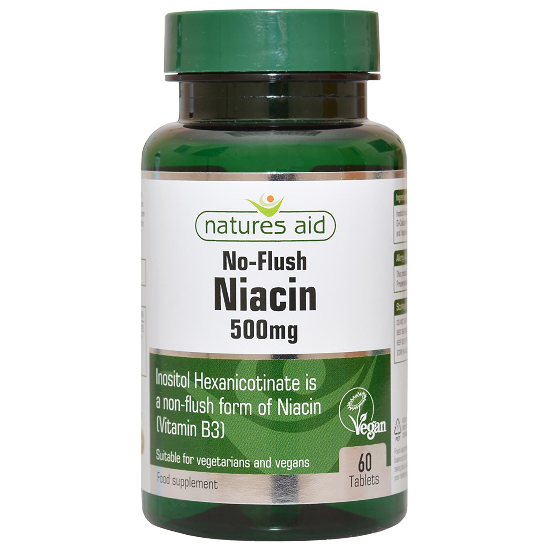 No Flush Niacin (Vitamin B3) 500mg 60's