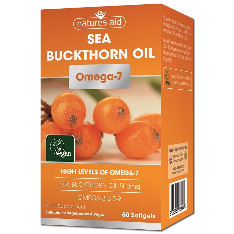 Sea Buckthorn Oil 500mg Omega-7  60's