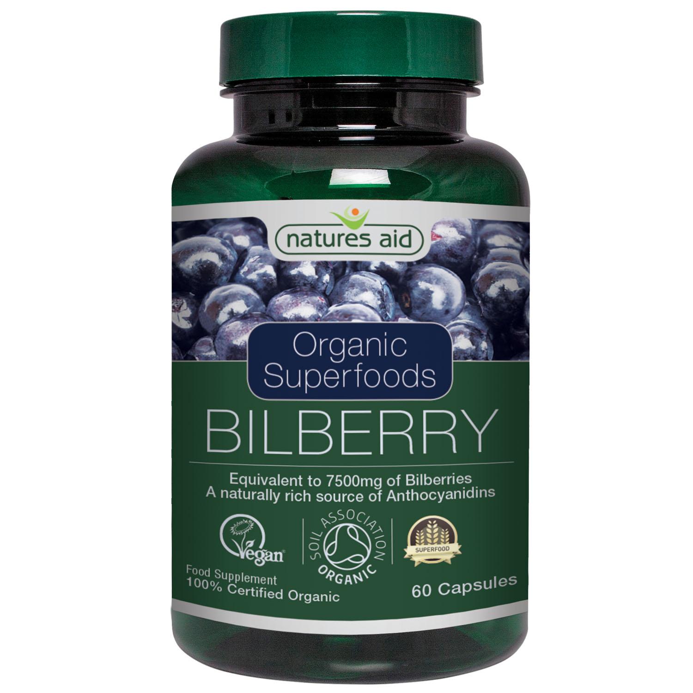 Organic Superfoods Bilberry 7500mg 60's