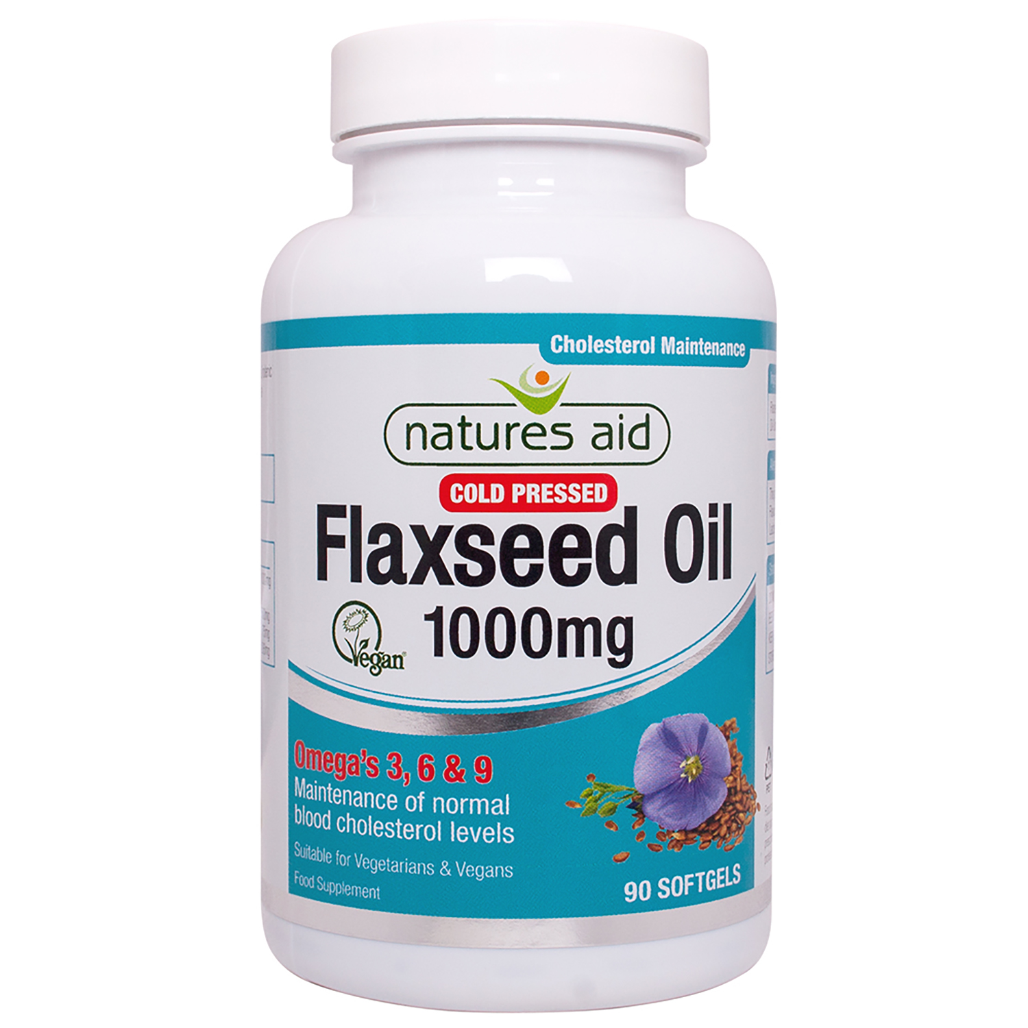 Cold Pressed Flaxseed Oil 1000mg (Omega 3, 6 + 9) 90's (Currently Unavailable)