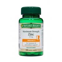 Maximum Strength Zinc 25mg 100's