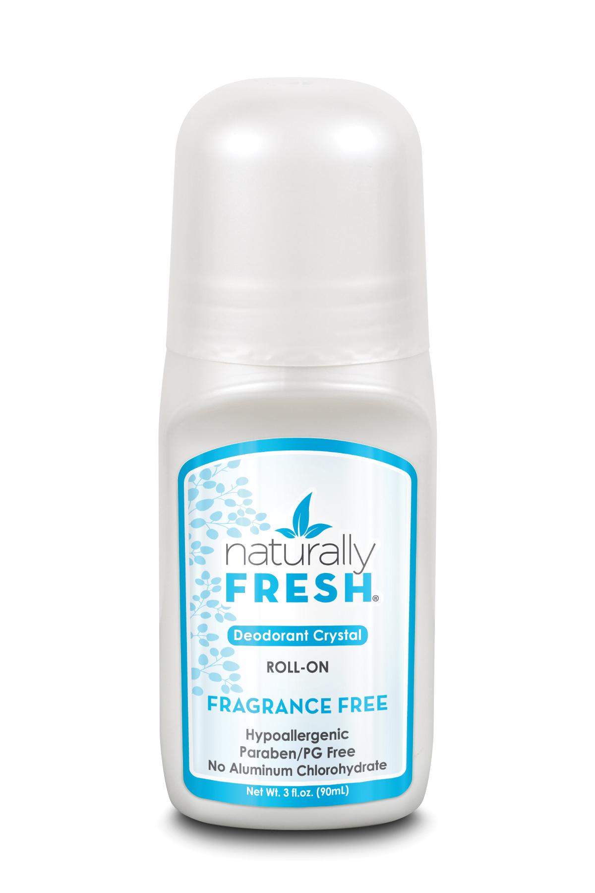 Deodorant Crystal Roll-On Fragrance Free 90ml (White)