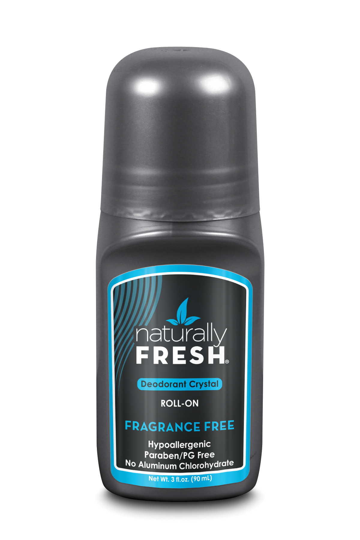 Deodorant Crystal Roll-On Fragrance Free 90ml (Grey) (Currently Unavailable)