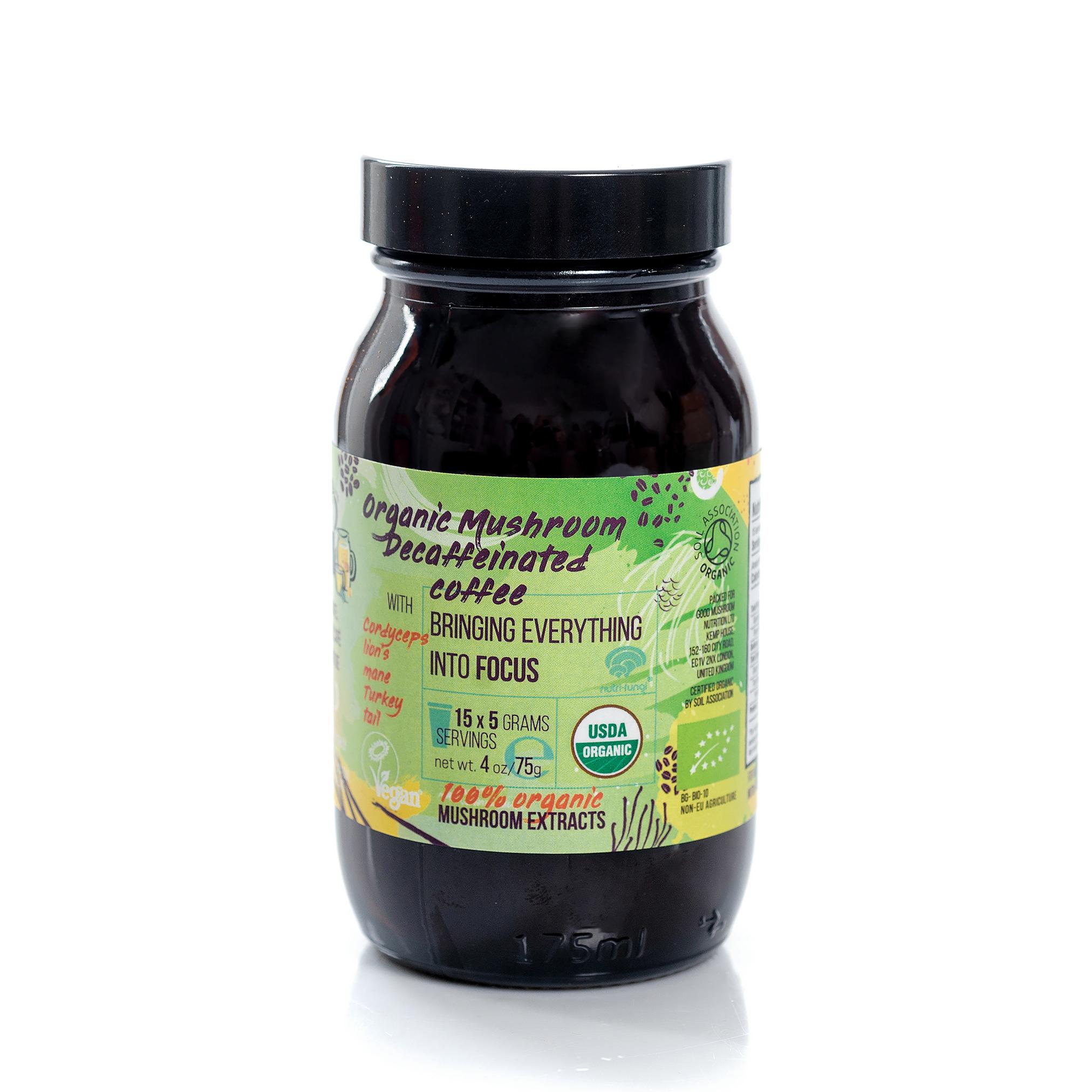 Organic Mushroom Decaffeinated Coffee, Bringing Everything Into Focus 75g