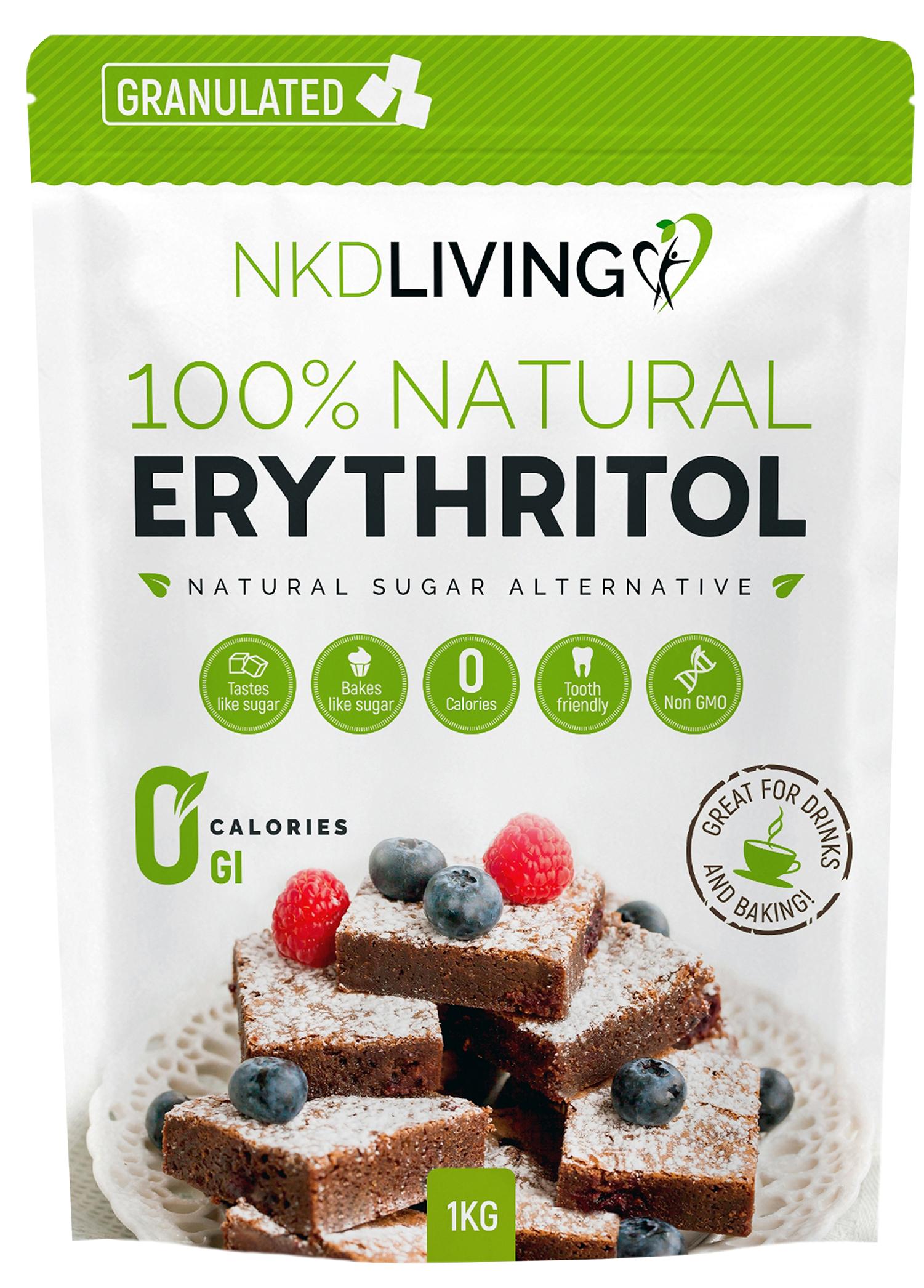 Erythritol Natural Sugar Alternative Granulated 1000g