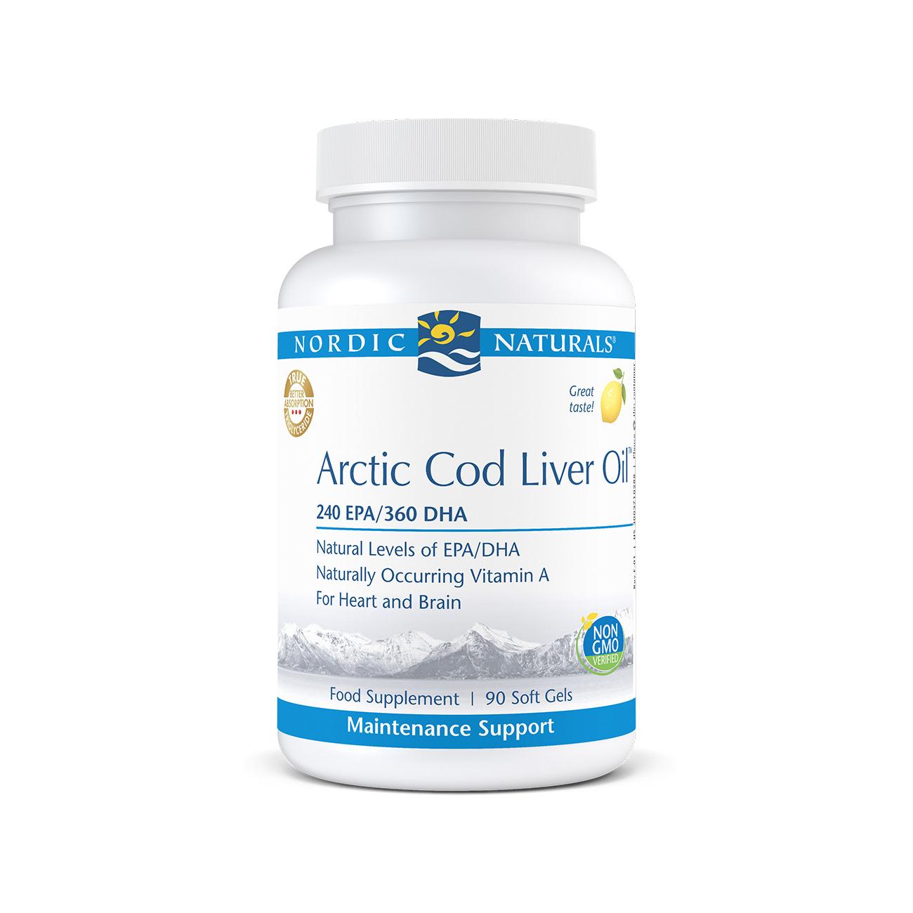 Arctic Cod Liver Oil Lemon 90's