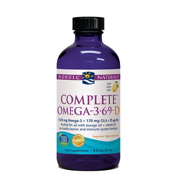 Complete Omega-3.6.9-D Liquid Lemon 237ml