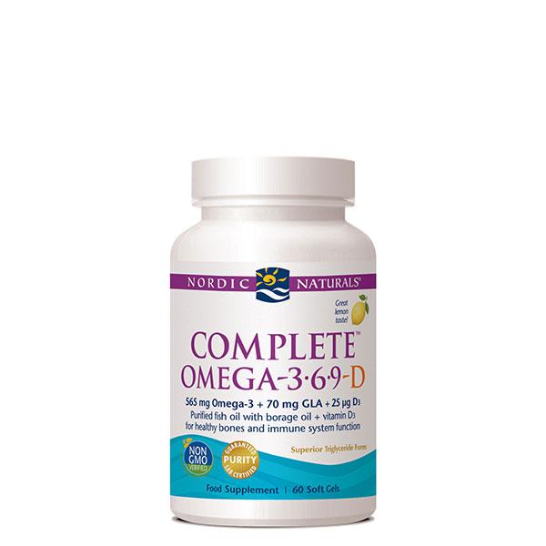 Complete Omega-3.6.9-D Lemon 60's