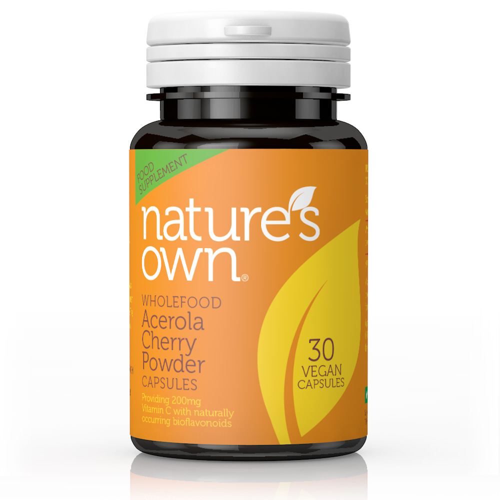 Wholefood Acerola Cherry Powder capsules 30's (Currently Unavailable)