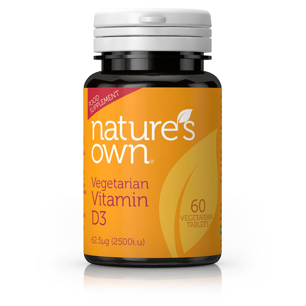 Vegetarian Vitamin D3 62.5ug 60's