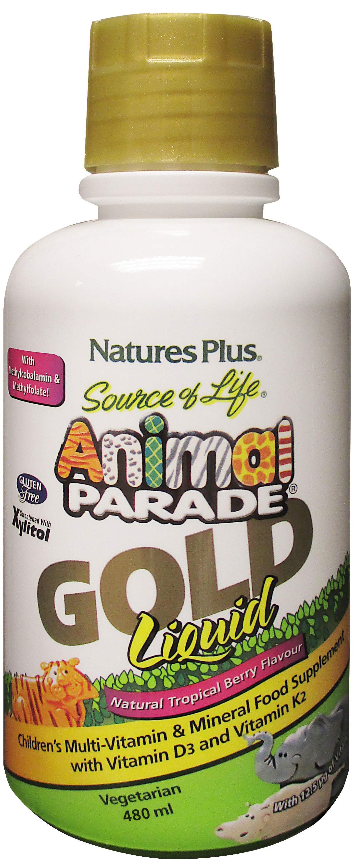 Source of Life Animal Parade GOLD Liquid Natural Tropical Berry Flavour 480ml