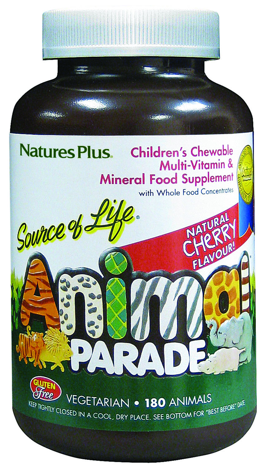 Source of Life Animal Parade Natural Cherry Flavour 180's