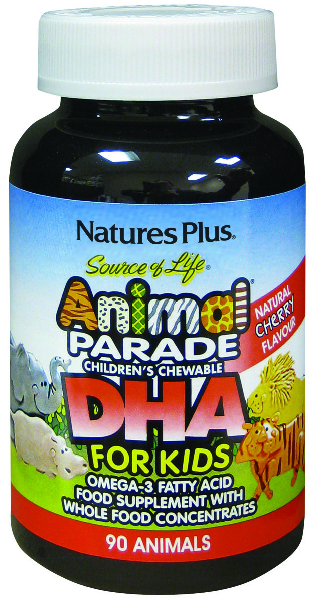 Source of Life Animal Parade Children's Chewable DHA Natural Cherry Flavour 90's