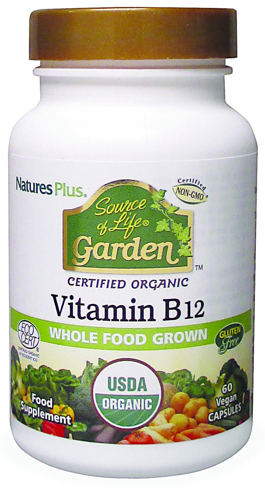 Source of Life Garden Certified Organic Vitamin B12 60's