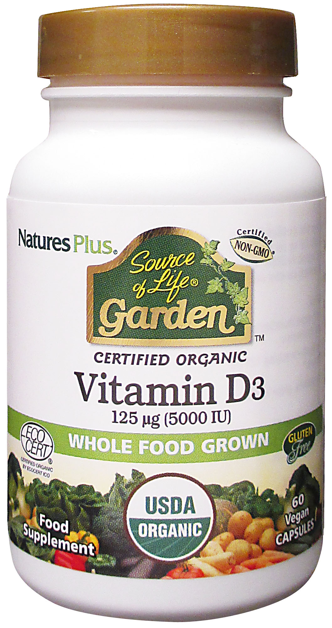 Source of Life Garden Vitamin D3 5000iu 60's