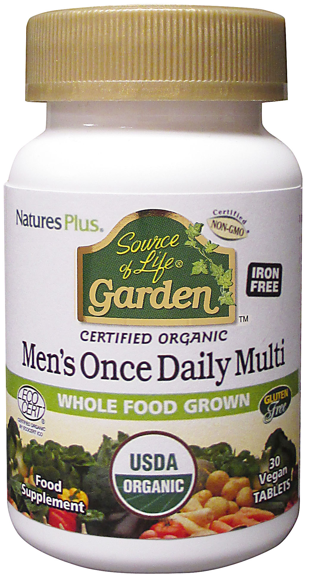 Source of Life Garden Certified Organic Men's Once Daily Multi 30's