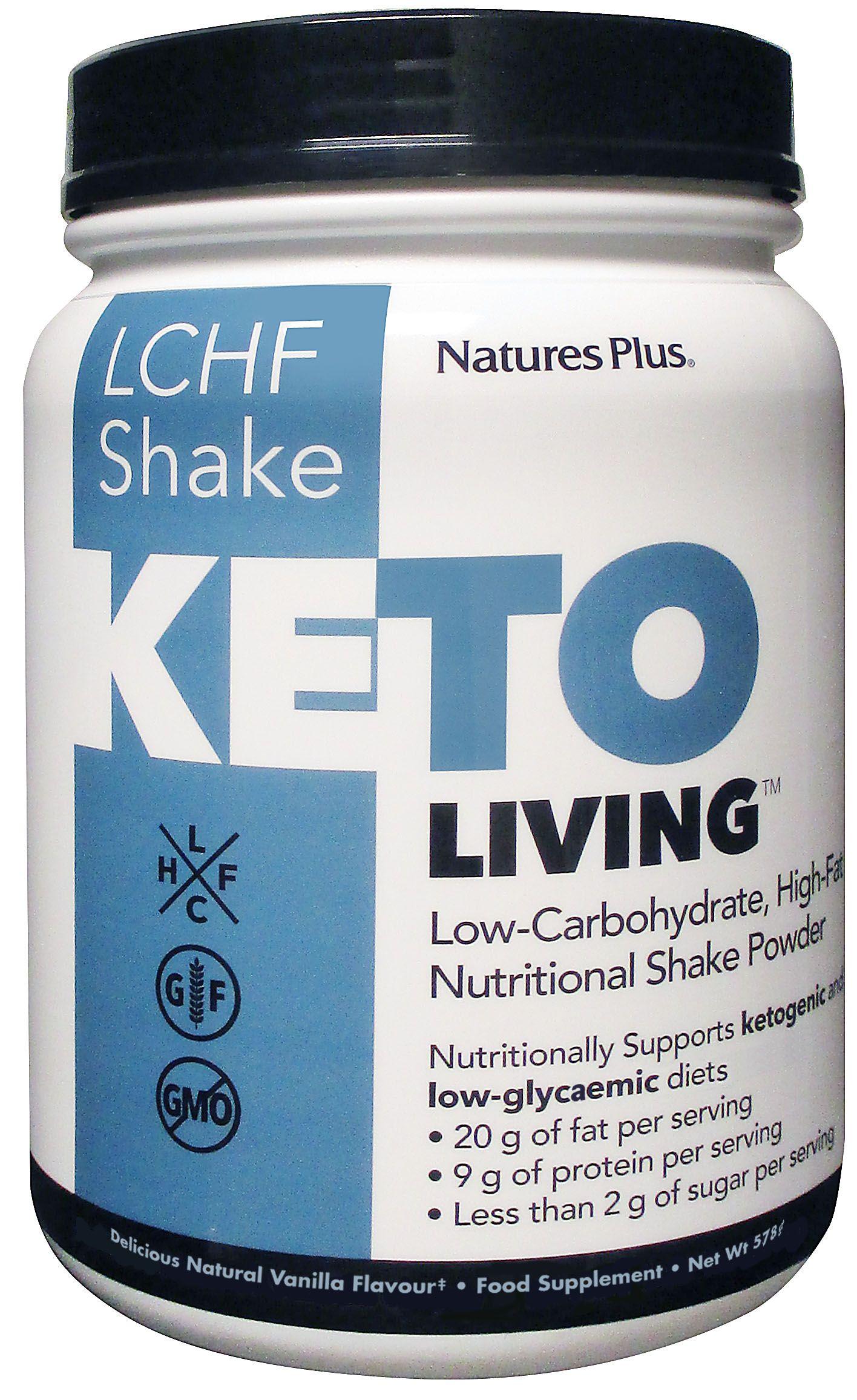 KetoLiving LCHF Vanilla Shake Powder 578g