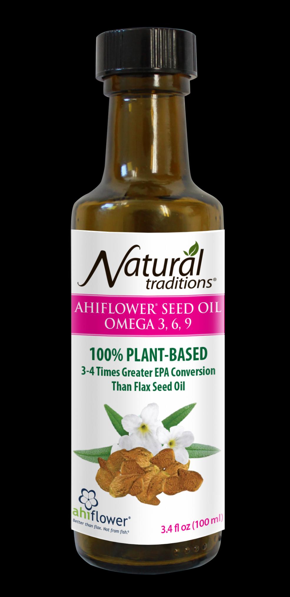 Ahiflower Seed Oil Omega 3-6-9 100ml