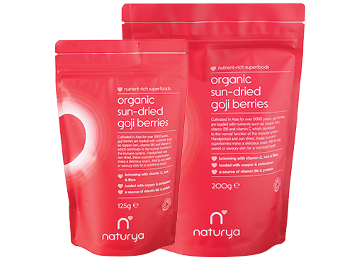 Organic Sun-Dried Goji Berries 125g