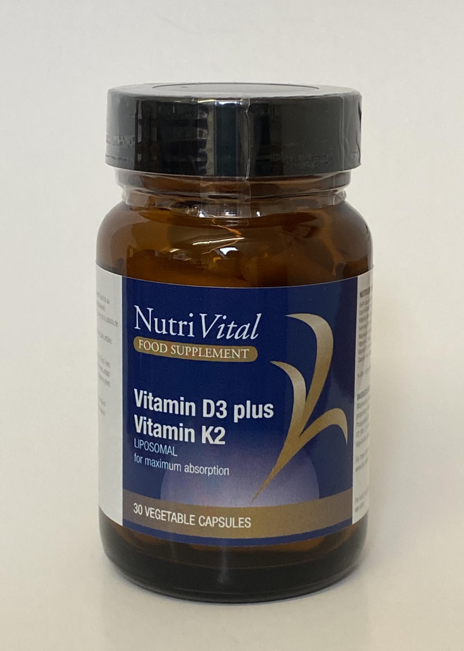 Vitamin D3 Plus Vitamin K2 Liposomal 30's
