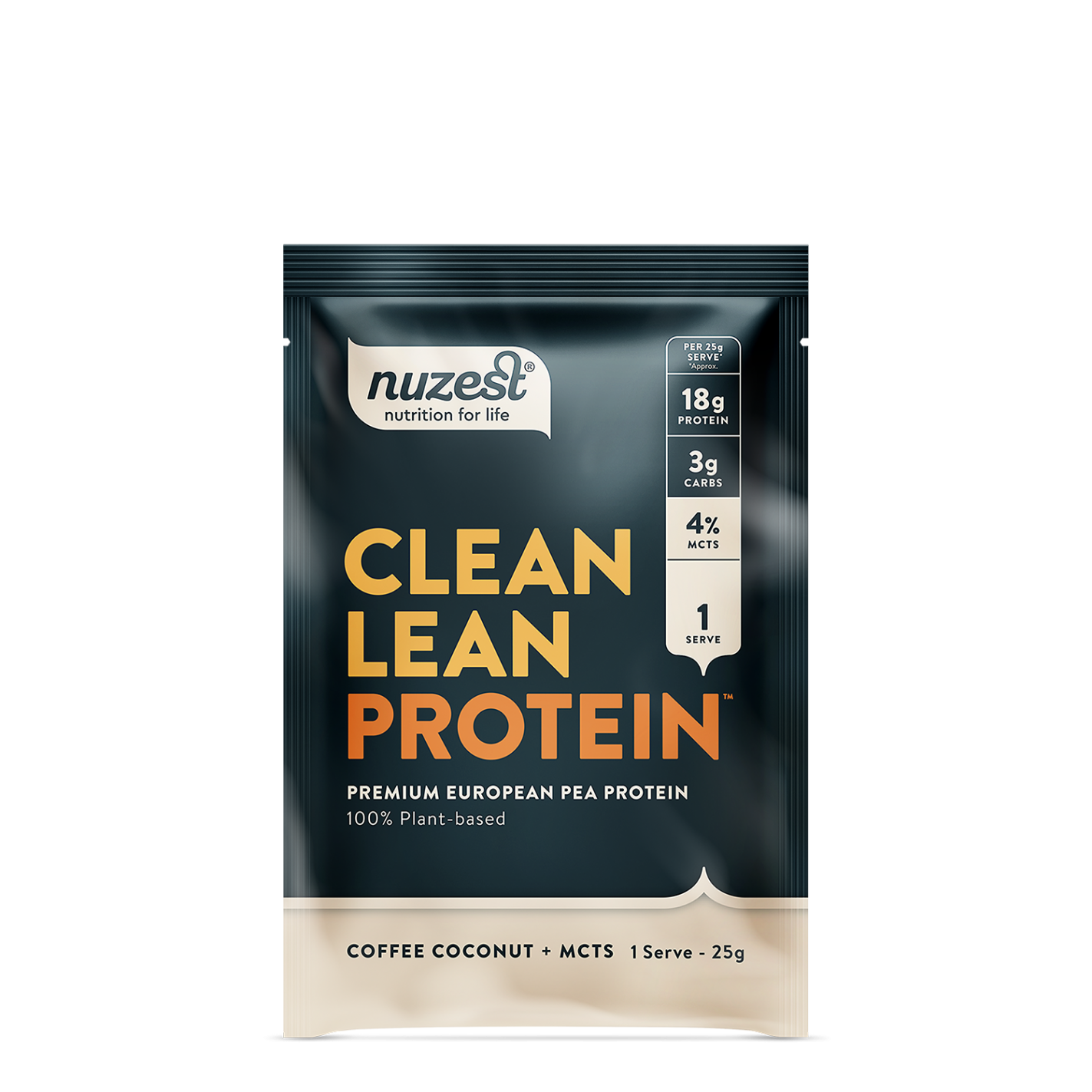 Clean Lean Protein Coffee Coconut + MCTs 25g (SINGLE)