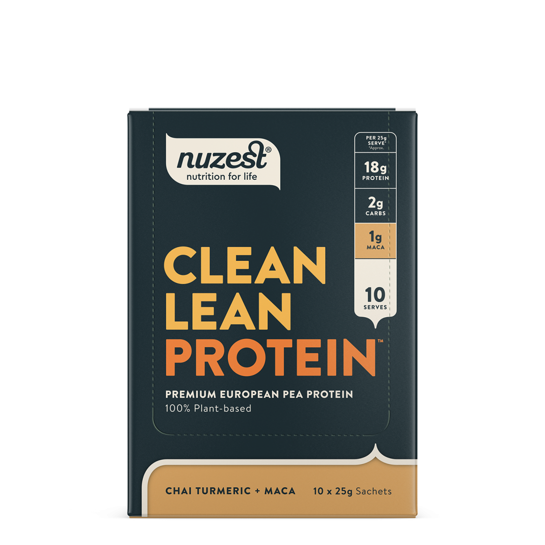 Clean Lean Protein Chai Turmeric + Maca 10 x 25g