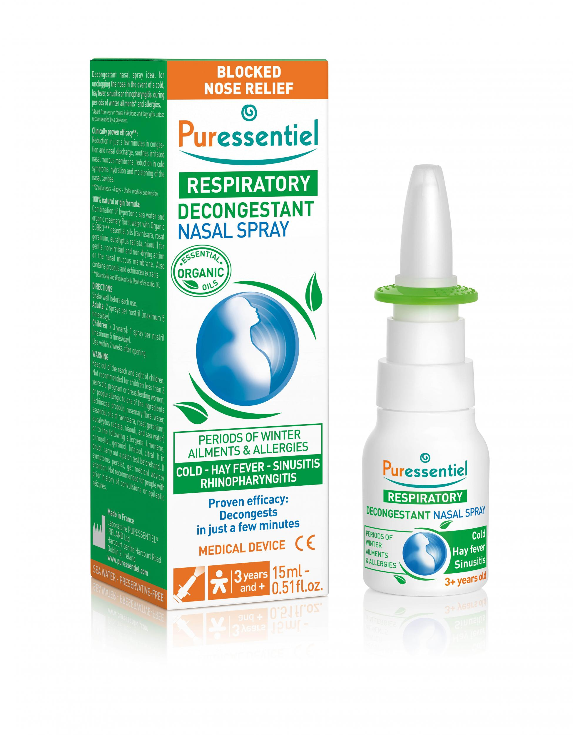 Respiratory Decongestant Nasal Spray 15ml