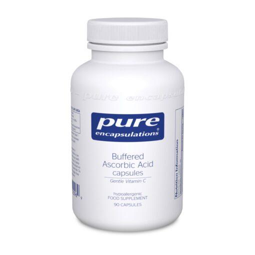 Buffered Ascorbic Acid Capsules Gentle Vitamin C 90's
