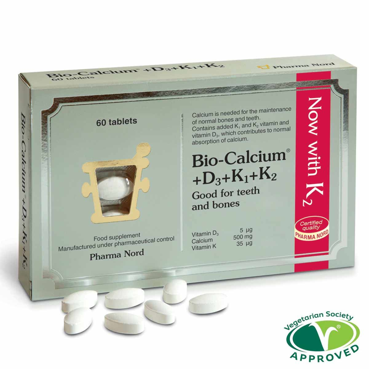 Bio-Calcium + D3 + K 500mg 60's