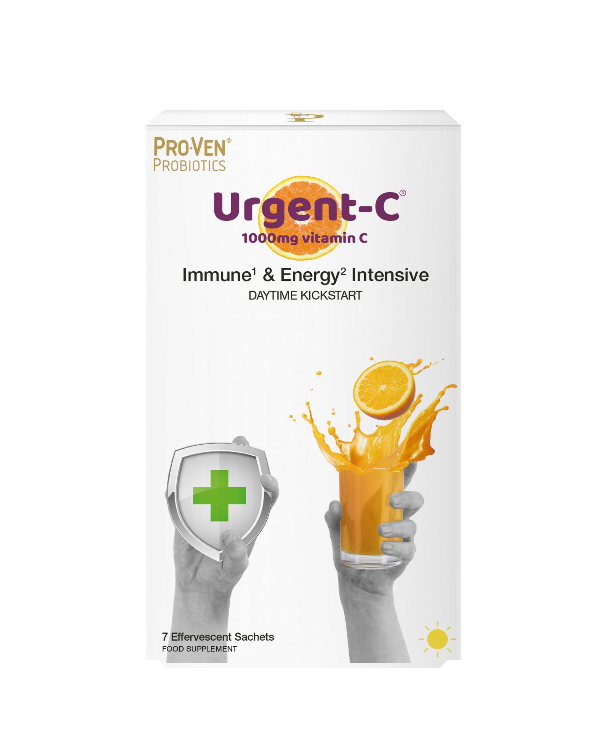 Urgent-C Immune & Energy Intensive - Daytime Kickstart 7 Sachets