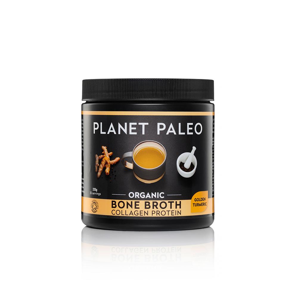 Organic Bone Broth Collagen Protein Golden Turmeric 225g