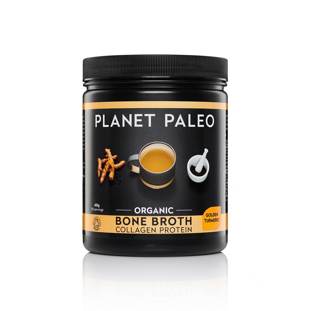 Organic Bone Broth Collagen Protein Golden Turmeric 450g